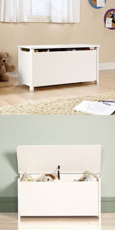 Toy Boxes 94932: Children S White Toy Box Chest Storage Organizer Boys And Girls Bedroom Play Room -> BUY IT NOW ONLY: $68.05 on eBay!