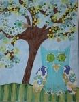 "11:x14"" Canvas Owl Wall Art  $139.00  www.hungouttobuy.com"