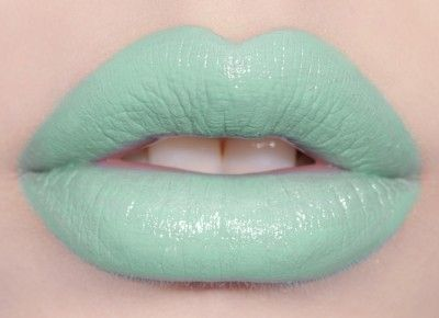 Mint to Be: Pastel mint-green lipstick by #limecrime #lips #lipstick