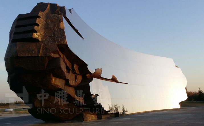 ANISH KAPOOR Sky Mirror. Stainless steel mirror sculpture, c curved shaped stainless steel mirror - Beijing Sino Sculpture Landscape Engineering Co.,Ltd