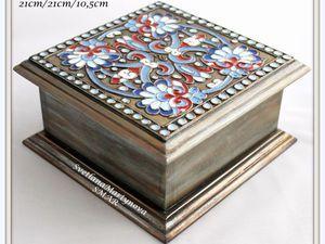 Расписываем шкатулку «Русские эмали» - Ярмарка Мастеров - ручная работа, handmade