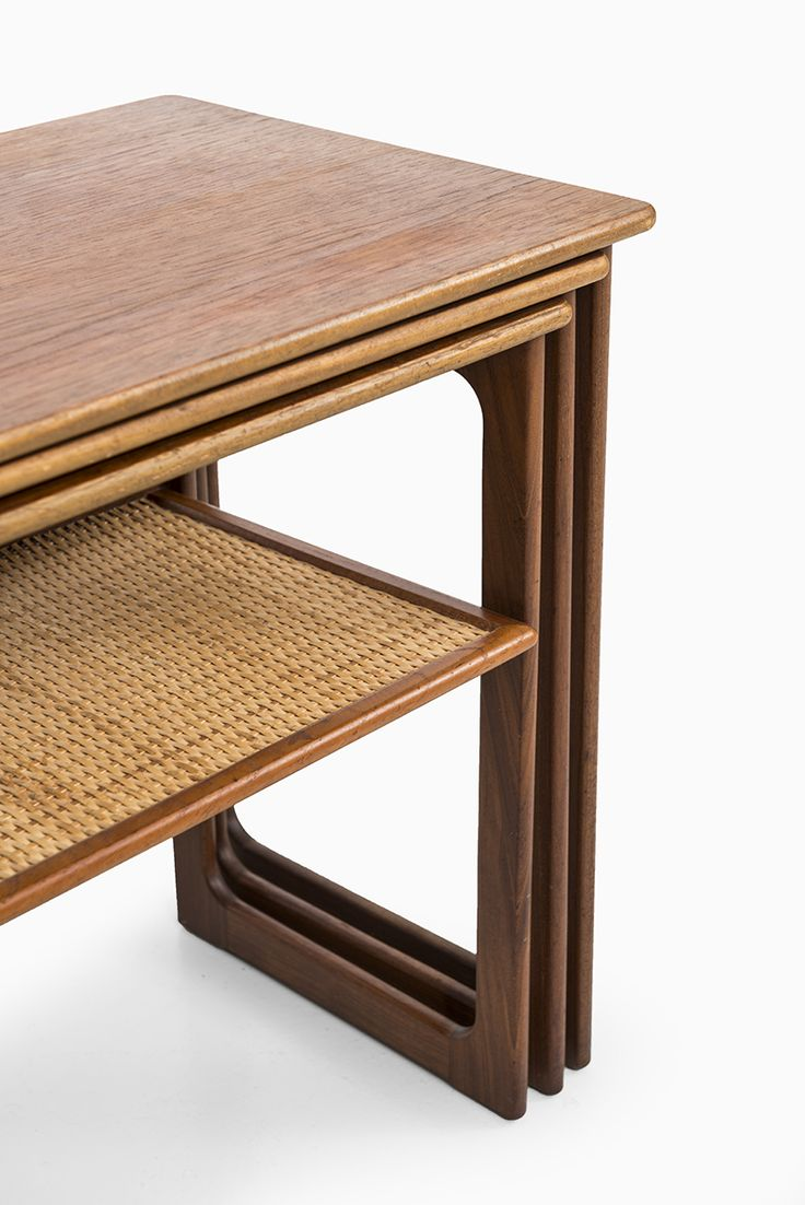 Johannes Andersen Nesting Tables In Teak And Cane At