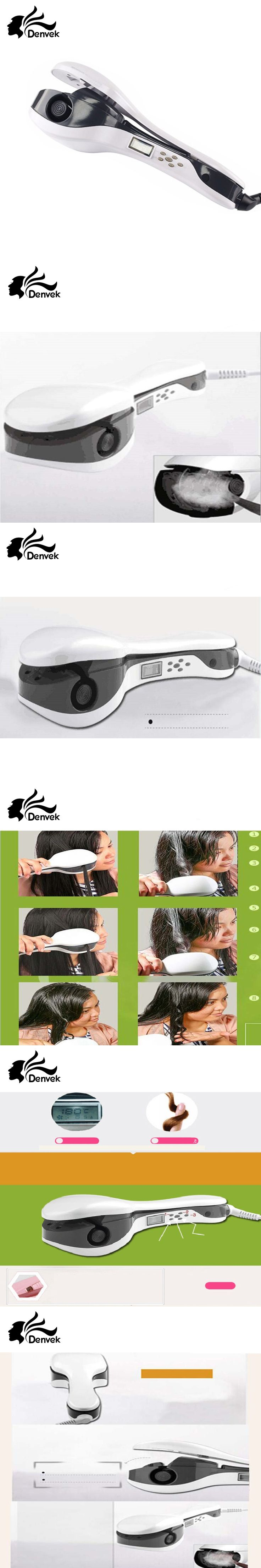 Women Hair Care Professional PTC Heating Electric White Color Ceramic Lonic Steam Automatic Hair Curler Home Use