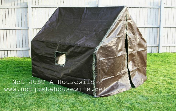 Yes I will be making this!  Make a kids tent out of Tarps and PVC pipe.