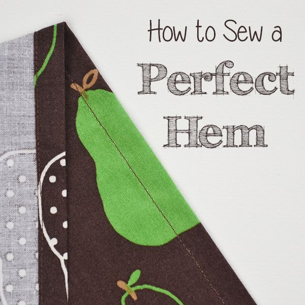 How to Sew a Perfect Hem: Learn an easy trick to make your hems perfectly even! Part of the free Learn to Machine Sew series for beginners on Cucicucicoo!