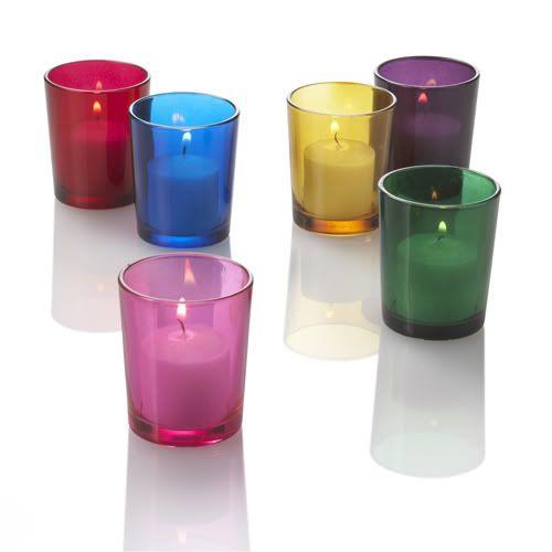 eastland votive holder assorted colors set of 12