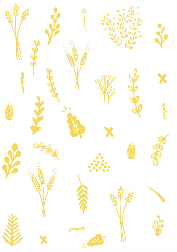 Drawings by @nataliewojtak  #drawings #concept #handmade #lovely #yellow #hay