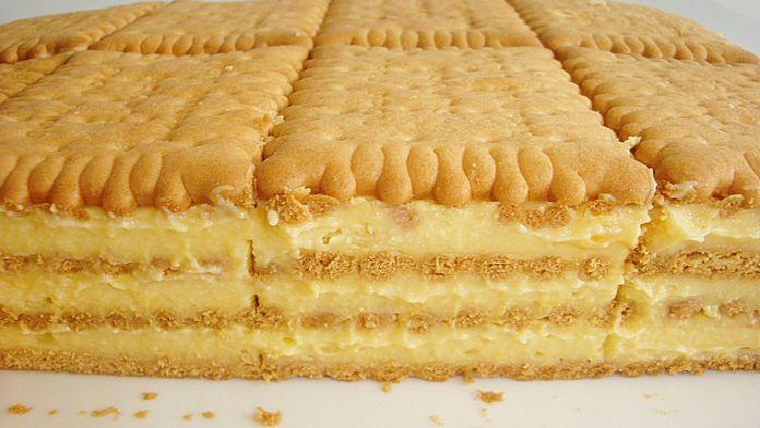 Fantastický sušenkový dort! Oblíbený u dětí!