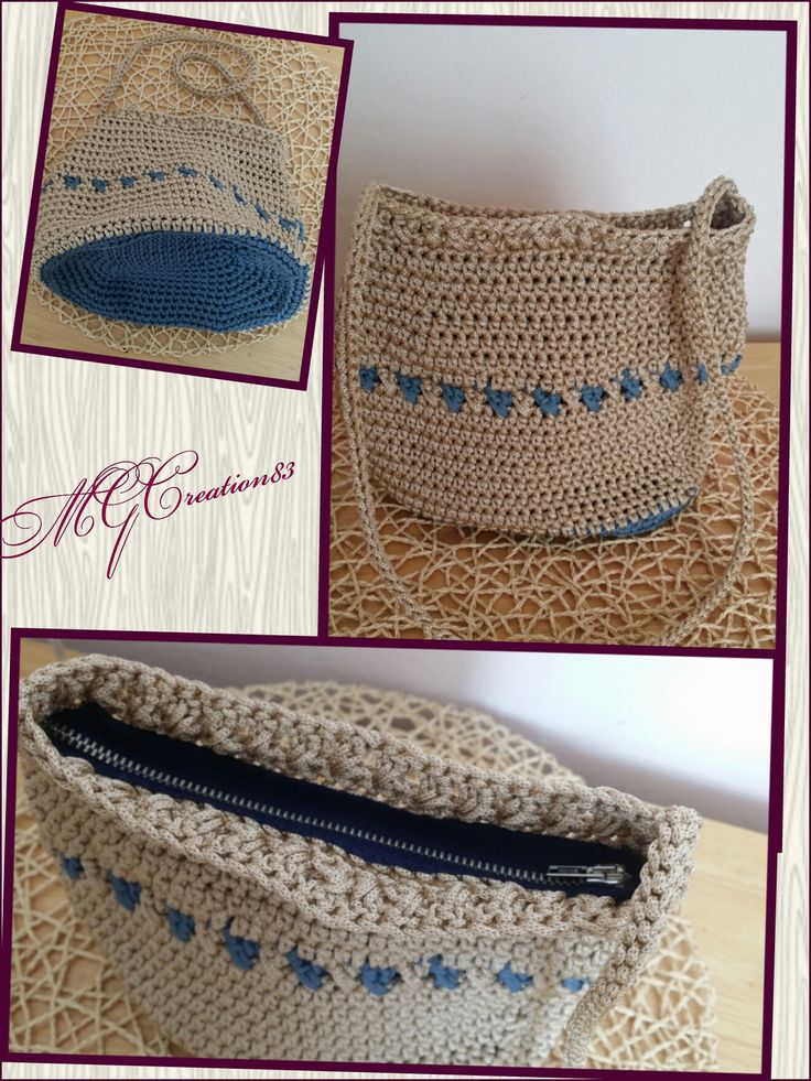 Crochet bag, cordino Thai MGCreation83