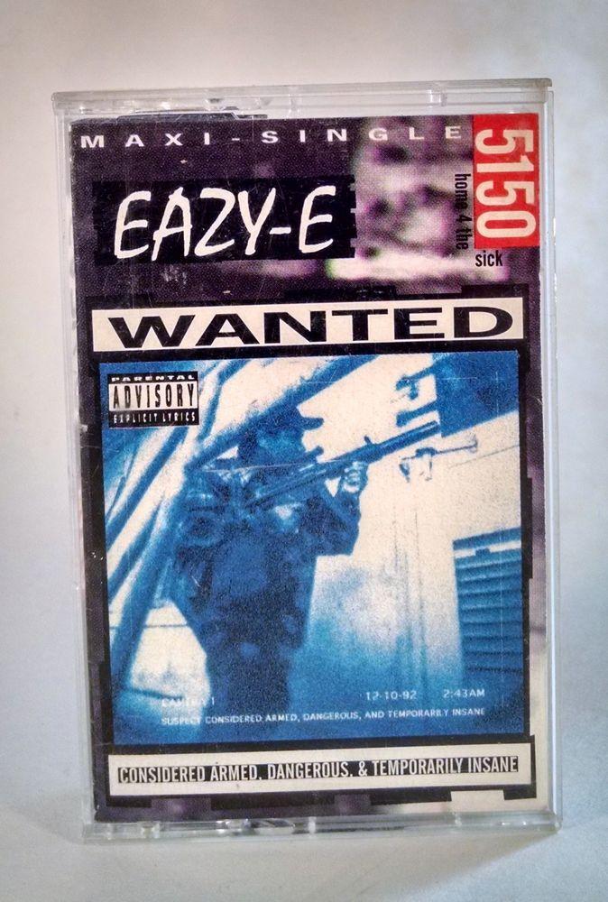 Eazy-E 5150 Cassette Tape Rap Hip Hop Cassette Ruthless Priority NWA Compton  #GangstaHardcore
