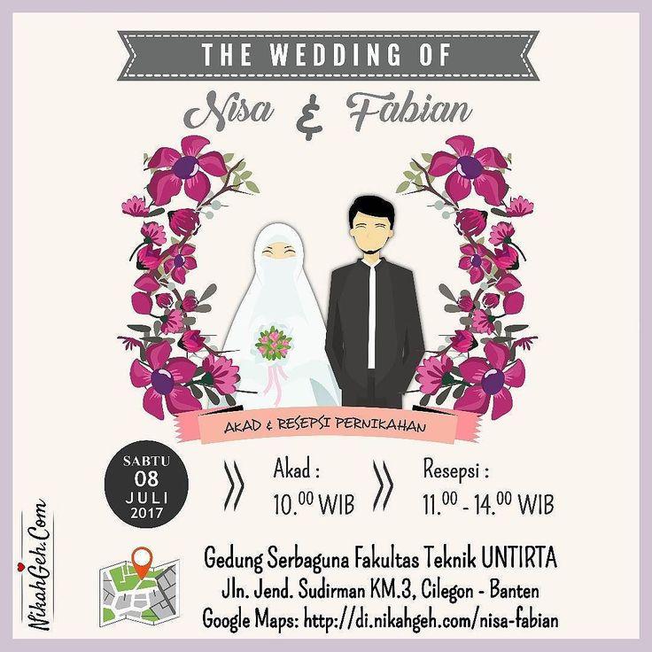 https://nikahgeh.com - E-Invitation Nisa & Fabian .  Tanya-tanya atau info lebih lanjut hubungi :  WA : 08561410064 Line : nikahgeh Desain bisa cek di  http://nikahgeh.com  #weddingserang#undanganserang #infoserang #undanganminimalis #simpleinvitation #testinikahgeh #undanganpernikahanmurah #undangancantik #pesanundangan #invitationserang#kotaserang#undangancilegon #undanganpandeglang#undanganmurah #undanganpernikahan#undanganonline #undangankreatif#undanganunik#nikah…