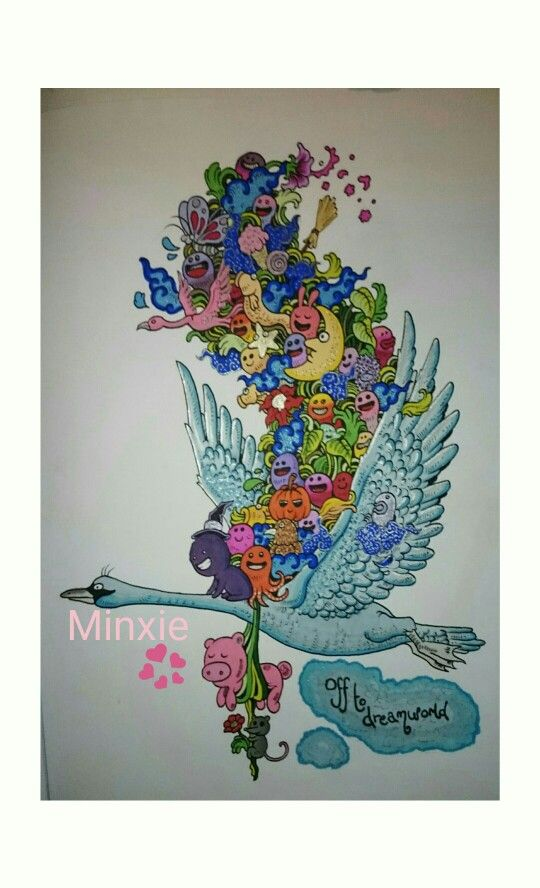 From Kerby Rosanes Doodle Invasion Coloured With Pro