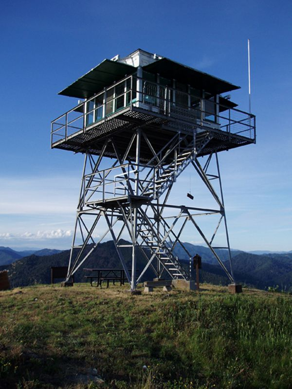 Hirz Mountain Lookout Located On The Mccloud Arm Of Shasta