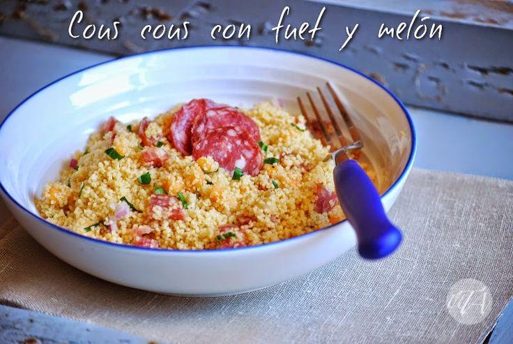 Un Toque de Azafrán: Cous Cous con fuet y melón | Catalan fuet and cantaloupe cous cous