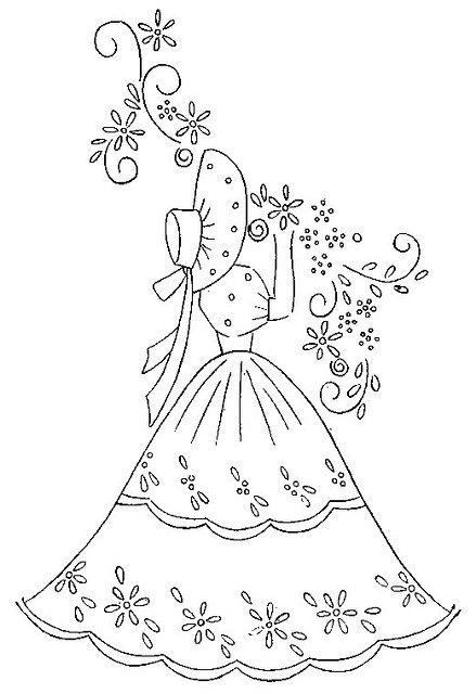 Bonnet Lady Crinoline Belle
