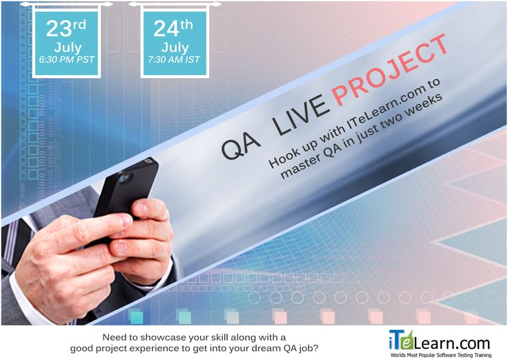 #QA is one of the most blazing testing devices with legion job prerequisites. ------------------------------------------ Register :https://itelearn.leadpages.co/qa-jira-live/   This Fast track #LiveProject will help you to know how to showcase your capability along with a good #projectexperience to get into your desired #job ?  It Casts your certainty and gives you a decent hands-on viable introduction on QA. Try not to miss this extraordinary chance to atten