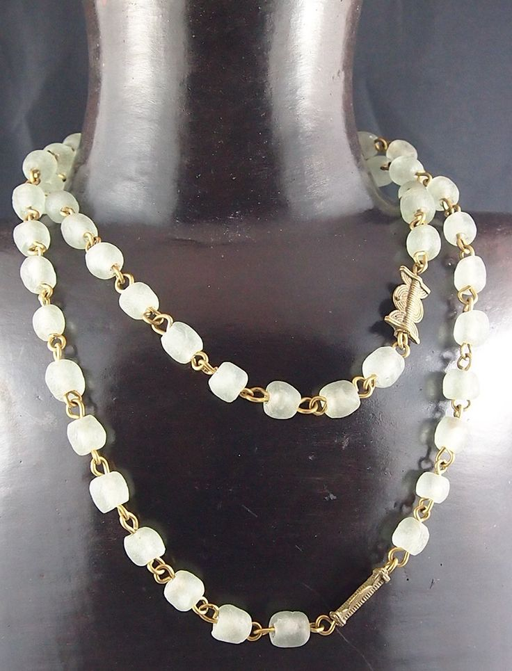 Nice combination of white beads and metal