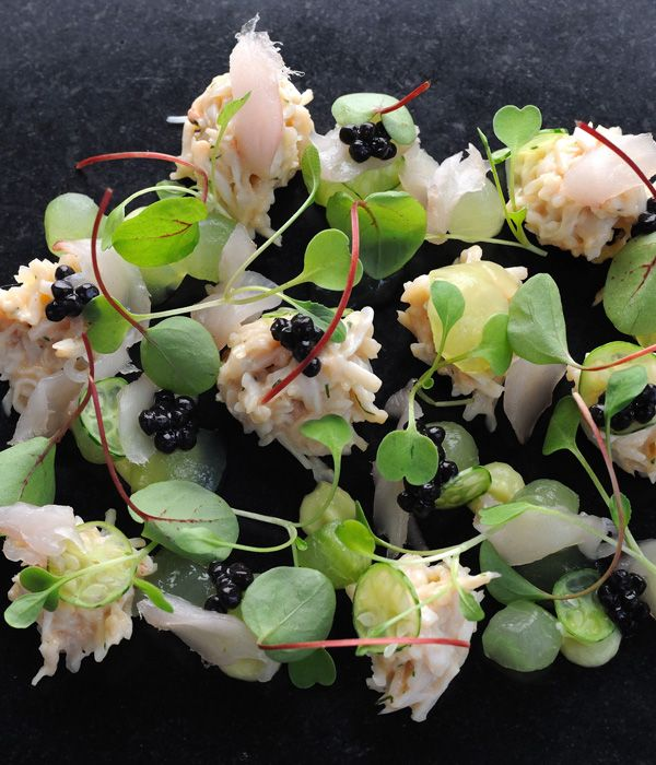 Crab salad is an excellent way to enjoy a taste of the sea, and Adam Simmonds' crab salad recipe is particularly fantastic with its combination of mackarel tartare, fresh cucumber and ripe avocado.