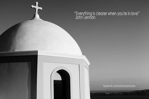 """Everything is clearer when you' re in love"" - John Lennon"