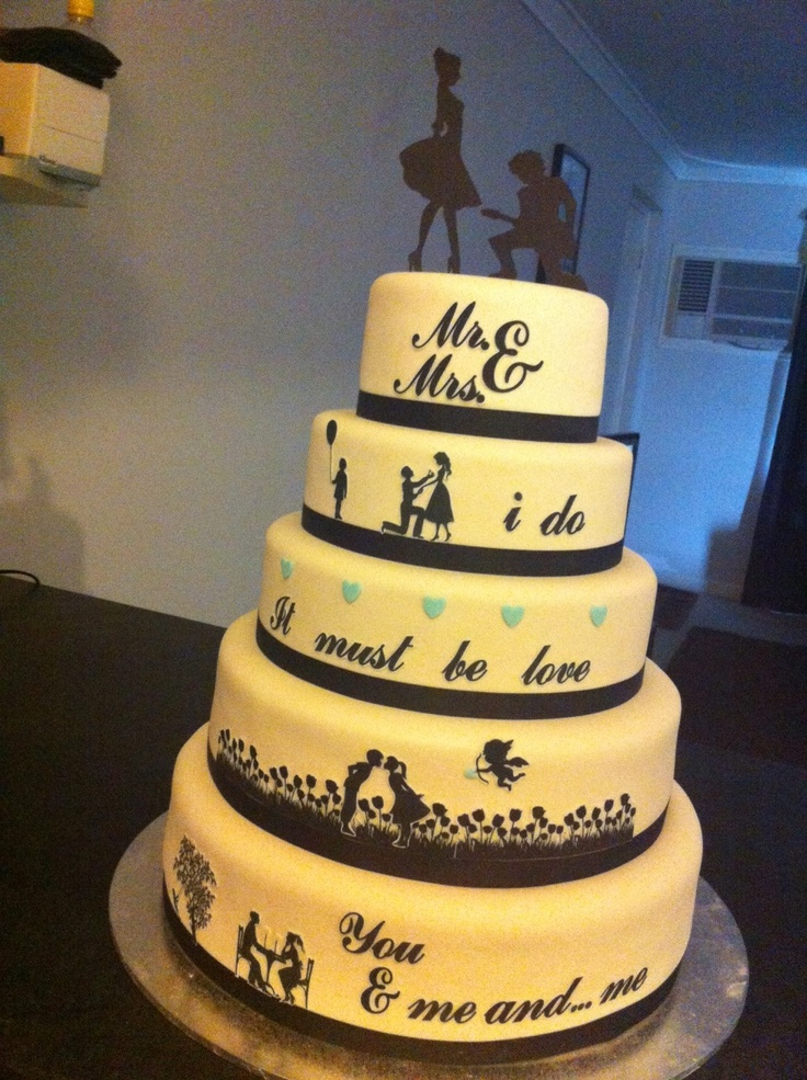 5 tier silhouette wedding cake | Cakes By Carmen ...