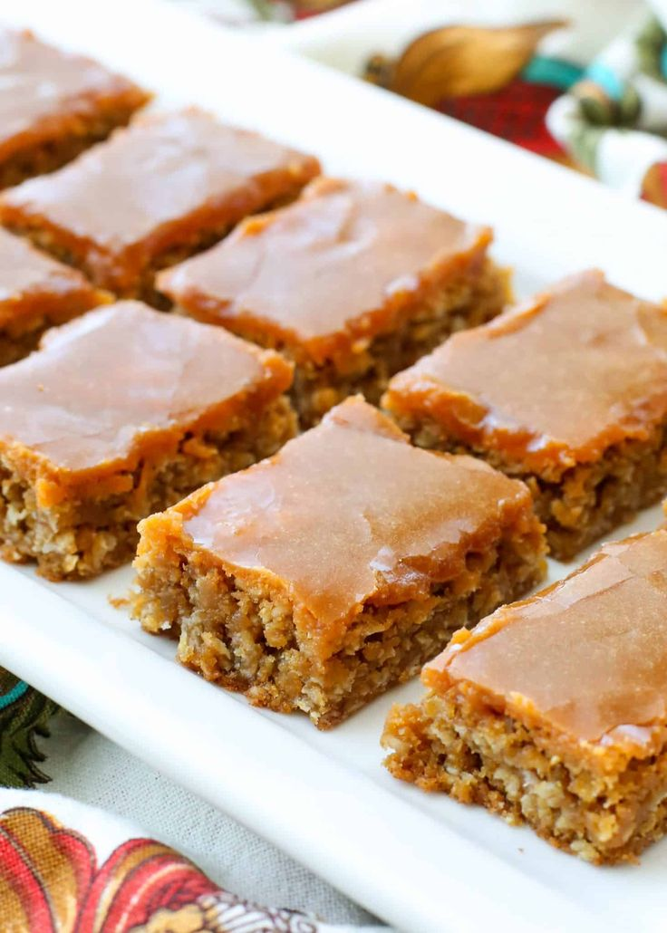 Oatmeal Butterscotch Bars are chewy, sweet, buttery treats! get the recipe at barefeetinthekitchen.com