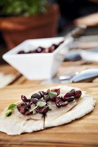 @Mario Batali's Piadina with Michigan Cherries, Bologna and Raclet Recipe