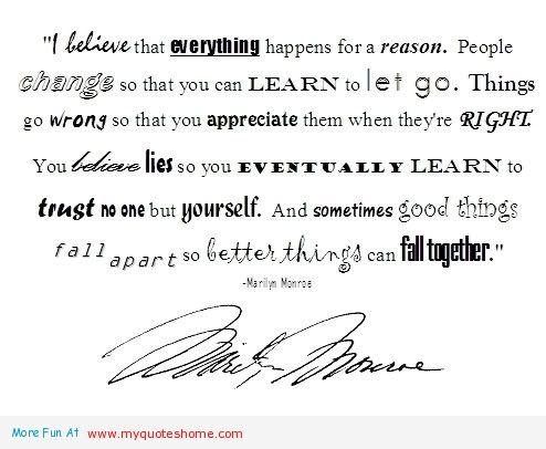 everything, learn, belives lies, trust, letting go quotes