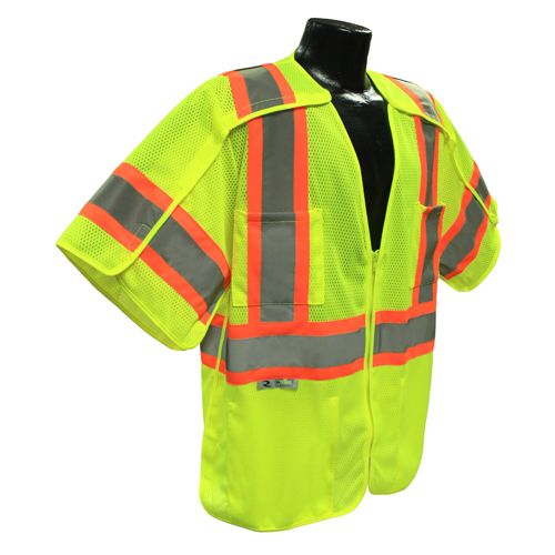 Radians Hi Vis Green Breakaway Surveyor Vest Class 3 SV24-3ZGM