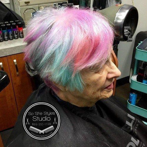 Idées Coupe cheveux Pour Femme  2017 / 2018   12 cheveux pastels pour les femmes âgées