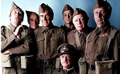 Dad's Army is a British sitcom about the Home Guard during the Second World War. It was written by Jimmy Perry and David Croft and broadcast on BBC television between 1968 and 1977  Arthur Lowe, John LeMesurier, Arnold Ridley, John Laurie, Ian Lavendar, Frank Williams, Clive Dunn, James Beck, and Bill Pertwee