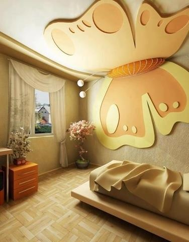 Landscaping and Interior Decoration: Butterfly ceiling