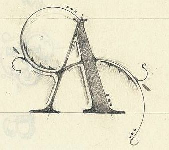 .✍ Sensual Calligraphy Scripts ✍ initials, typography styles and calligraphic art -