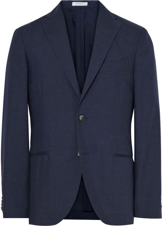 Boglioli Blue K-Jacket Slim-Fit Wool And Mohair-Blend Blazer