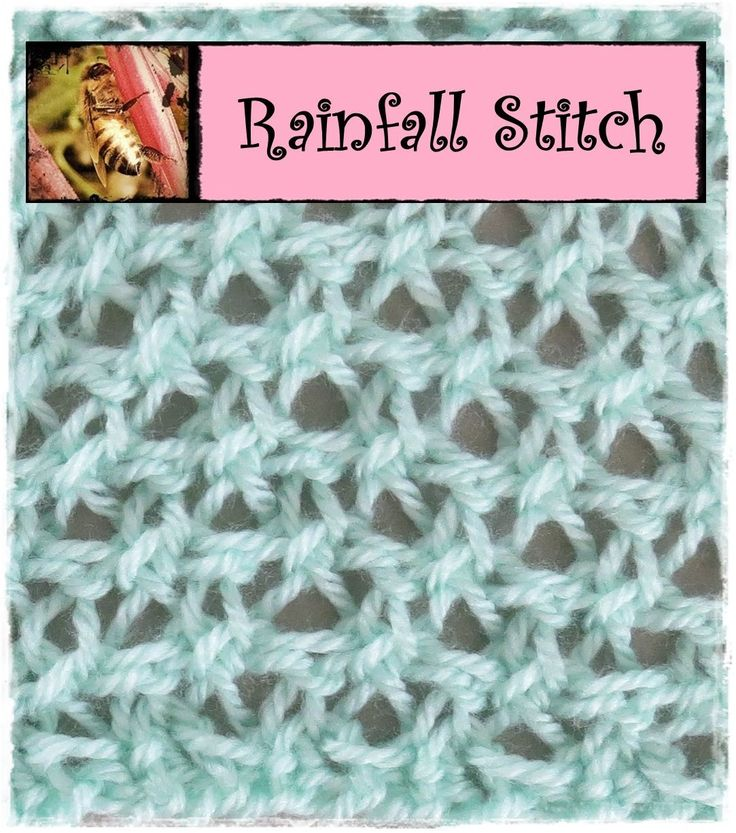 Loom Knitting Rainfall Stitch Here Is The How To For My Newly