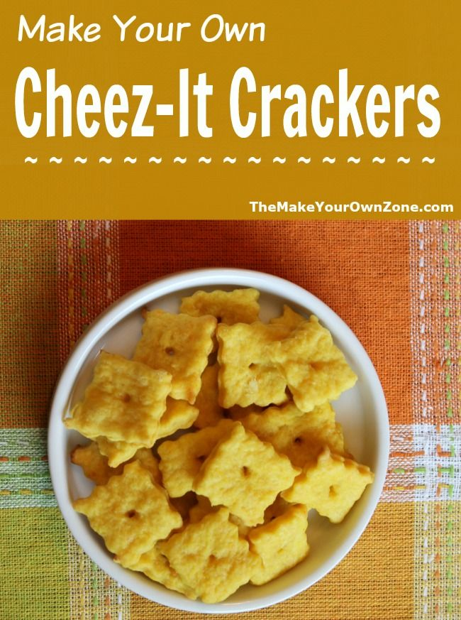 Homemade Cheez-It Crackers | Make your own, Make your and Homemade
