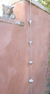 Don't waste rain runoff. Capture it with this simple rain chain project for your garden.data-pin-do=