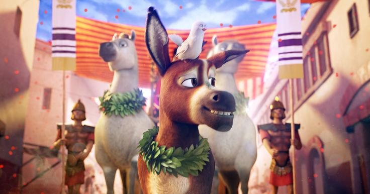 USA TODAY        Bo the donkey (voiced by Steven Yeun) basks in the spotlight with his dove friend (Keegan-Michael Key) in 'The Star.' Bo plays a pivotal role in the animal-filled nativity story.(Photo: Sony Pictures Animation.)      The nativity story is getting new animal heroes... - #Donkey, #Light, #Nativity, #Shines, #Star, #Storys