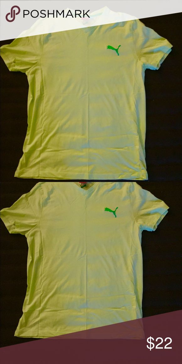 NWOT Men's Lime Green Puma Shirt Lime green short sleeve Puma shirt size XXL Puma Shirts Tees - Short Sleeve