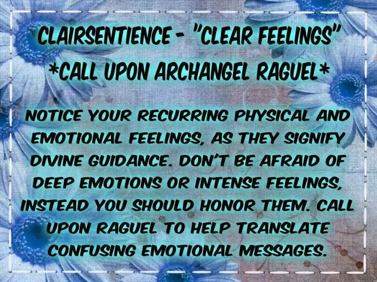 I love this Clairsentience: Clear Feelings ~ Archangel: Raguel ~ Gift of: Sacral Chakra
