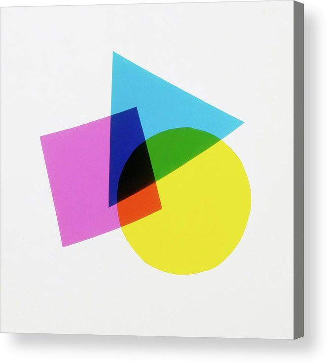 Overlapping Geometric Shapes Acrylic Print By Dorling Kindersley