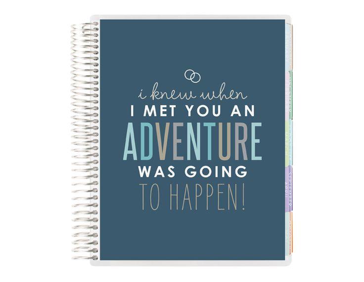"Cute @erincondren Wedding Planner ""I knew when I met you an adventure was going to happen!"" #ErinCondren https://www.erincondren.com/referral/invite/brittanysheets"