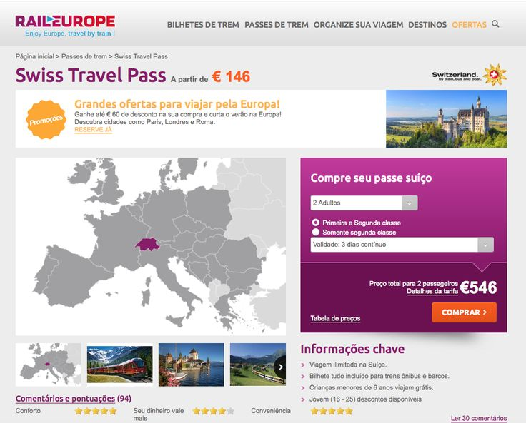 swiss travel pass comprar