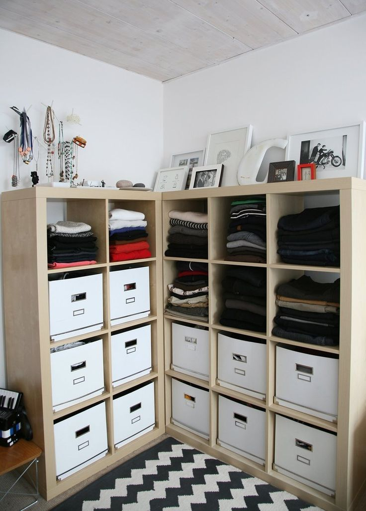 Robb and Jamie's Schoolhouse Flat -- awesome use of ikea expedit bookcases