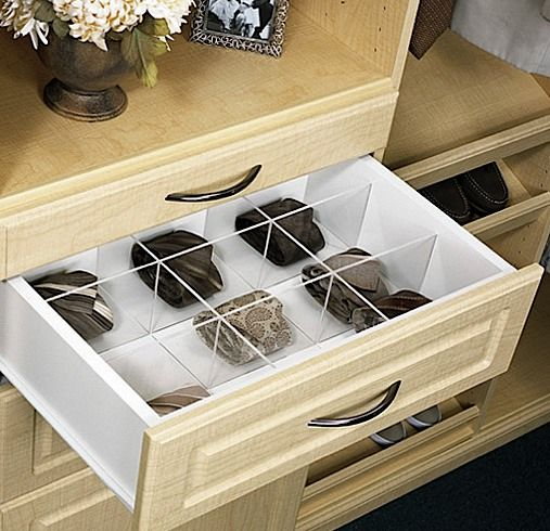 Custom Closet Drawers For Ties | Closets By Design
