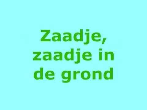 Zaadje in de grond. Tekst, bladmuziek en akkoorden: http://tijldamen.nl/kinderliedjes/lente-en-pasen/zaadje-in-de-grond