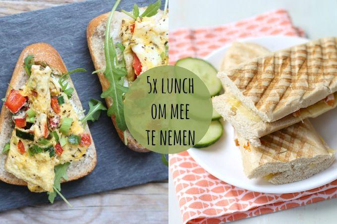 We laten je vandaag vijf lekkere lunchrecepten zien die allemaal snel en makkelijk te bereiden zijn en je prima kunt meenemen naar je werk. Eet smakelijk!