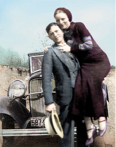 "Bonnie and Clyde, Clyde looks a lot like that dance partner of Sadie's on dancing with the ""stars"" huh."
