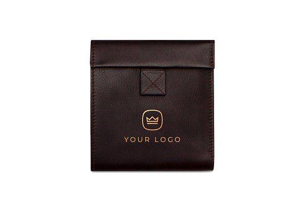 Brown Leather Wallet Logo Mockup Luxury Leather Bag Brown Leather Wallet Bags Logo