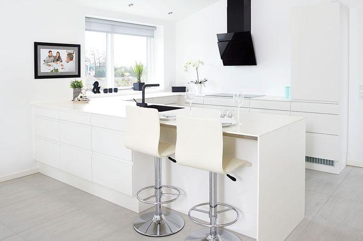 Køkken fra et HusCompagniet hus #nybyggeri #bolig #nythjem #nybyg #hjem #nythus #nybyggerne #husejer #husbyg #hus #hhus #køkken #indretning