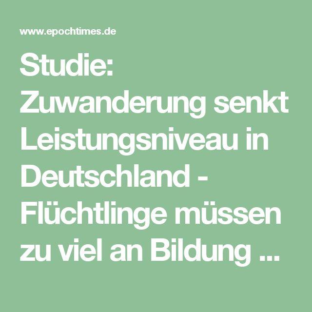 Studie: Zuwanderung senkt Leistungsniveau in Deutschland - Flüchtlinge müssen zu viel an Bildung aufholen